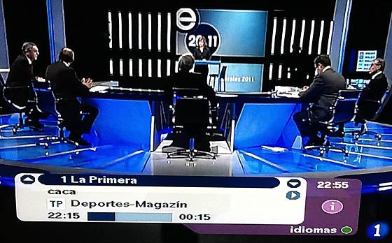 Plano general del debate a 5 de TVE