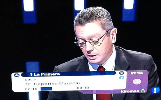 Gallardón, durante el debate a 5 de TVE
