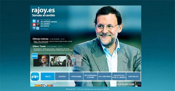 Portal electoral de Mariano Rajoy