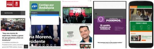 Versiones móviles de las webs de los partidos.