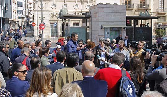 Juanma Moreno, en Almería. Foto:  Francisco J. Fernandez