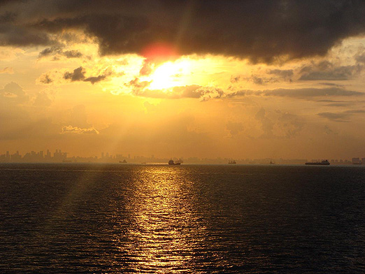 Sunset at Singapore Strait BLOG10