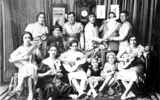 """Comparsa """"La Sastrería"""" creada por Salvador Trujillo Ramos en 1934"""