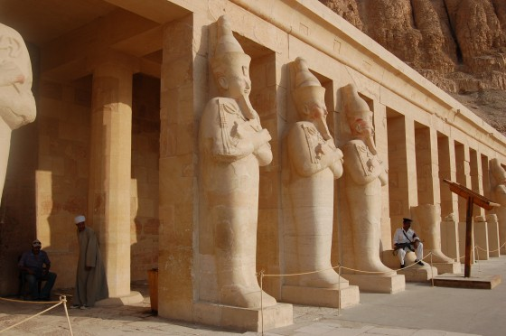 Una de las terrazas del templo de Hatshepsut