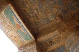 Techo pintado en Medina Habut
