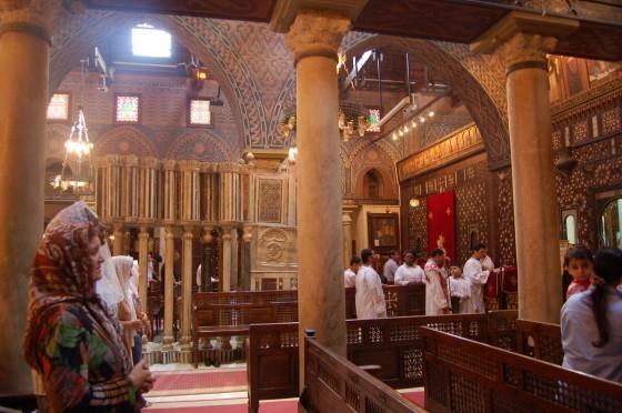Misa en la Iglesia Colgante de El Cairo