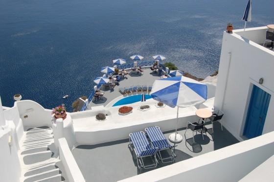 Otro hotel, en las cercanías de Oia, Santorini