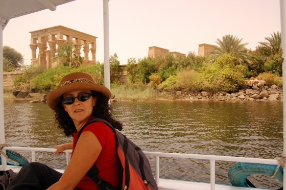 Abandonando el templo de Filae, salvado de las aguas de la presa de Assuán