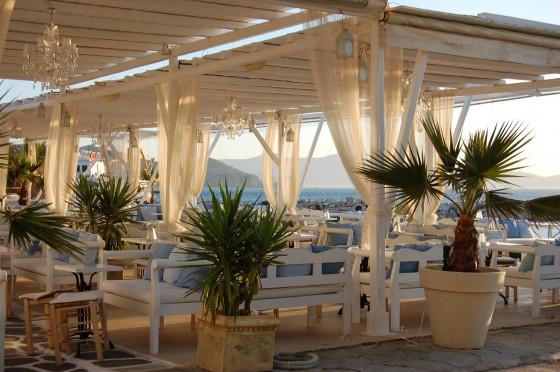 Una espléndida terraza en Hora Naxos