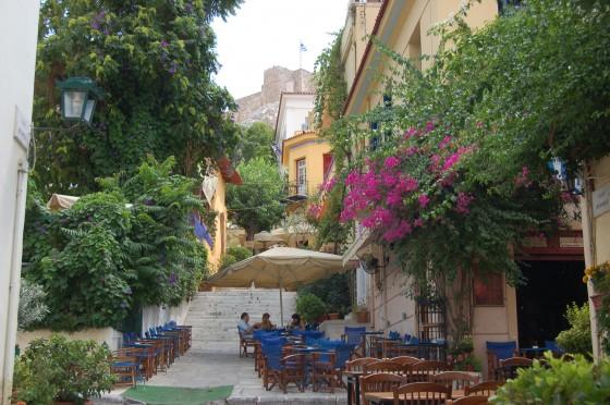 Plaka, el centro de Atenas, tabernas, Acrópolis