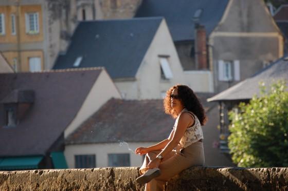 El descanso al final del día, en Montignac, que alberga la cueva de Lascaux