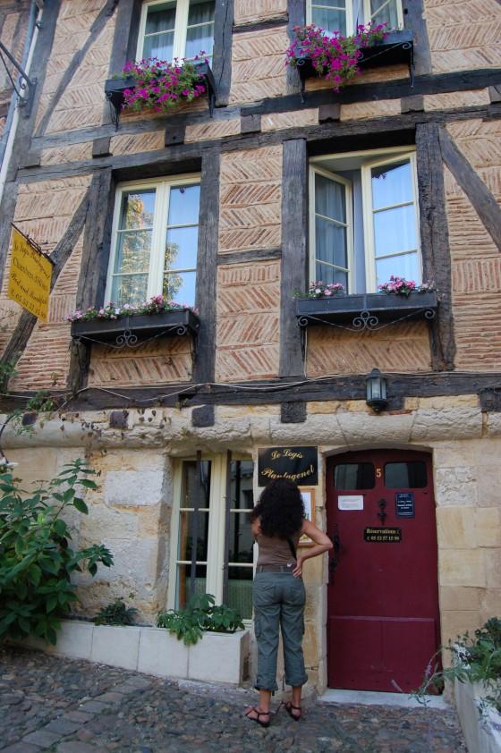 Casas con entramado de maderas, en el centro histórico de Bergerac