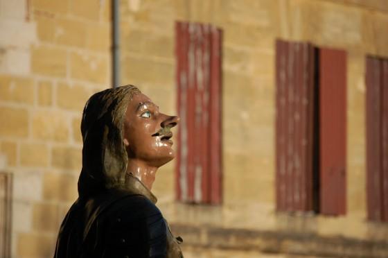 La estatua de Cyrano en Bergerac