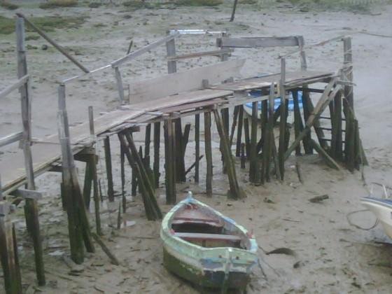 El caño del Zaporito, marea baja