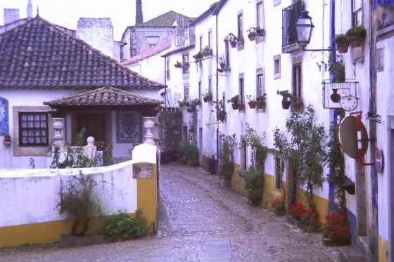 Una calle de Óbidos