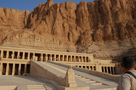 El singular templo de Hatshepshut.