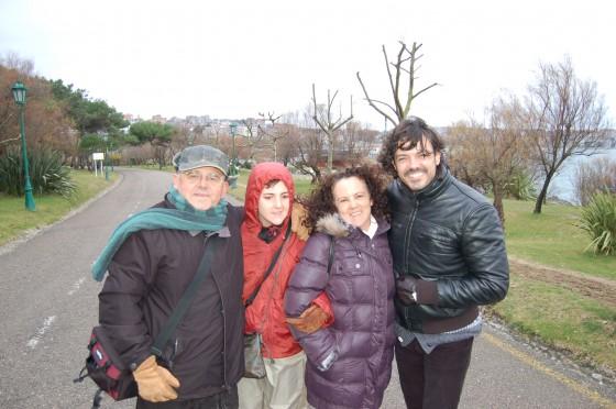 Los tres viajeros, con Alfonso González, del Canal Viajar
