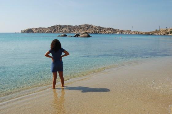 Paranga es nuestra playa en Mikonos.