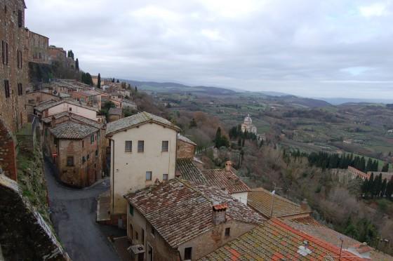 Paisaje de la Toscana desde las alturas de Montepulciano.