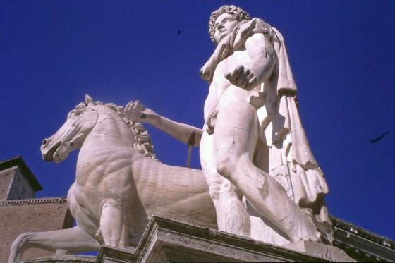 Mármoles romanso en la plaza del Capitolio