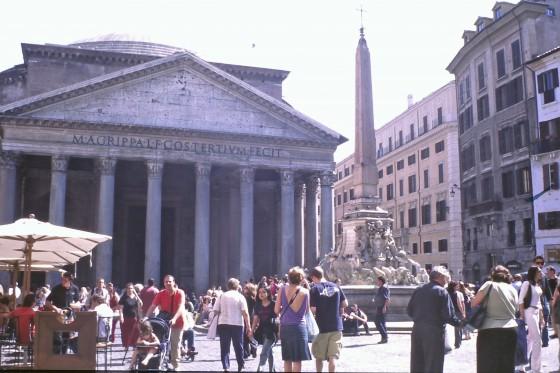 Es el Panteón, un templo de casi 2.000 años