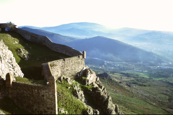 Las tierras de España al fondo, desde las alturas portuguesas de Marvao.