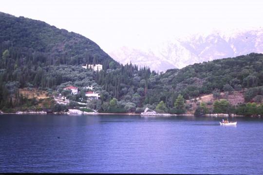 La costa de Lefkada, desde el 'Capitán Aristide'