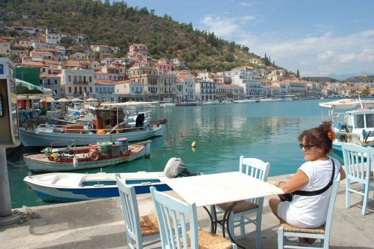 Penélope, en el puerto de Gythio, en el Peloponeso.