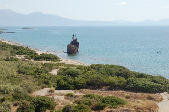El lugar del naufragio.
