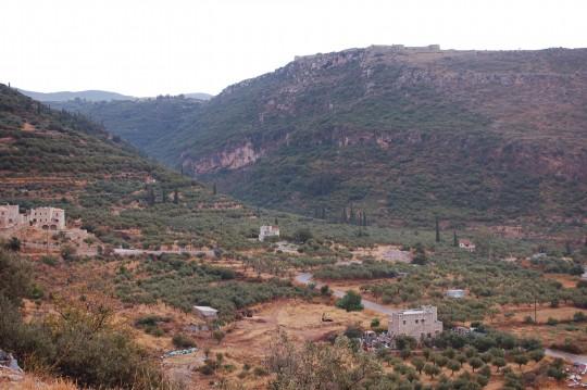 El paisaje en el camino de retorno, ya cerca de Areópoli.