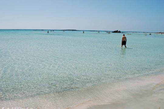 Azul intenso en la playa de Elafonisi.