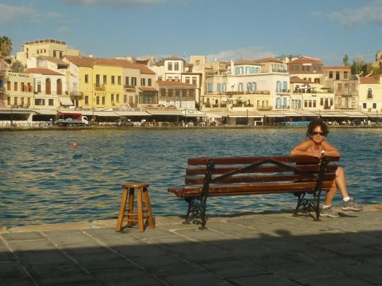 El descanso en el puerto de La Canea...