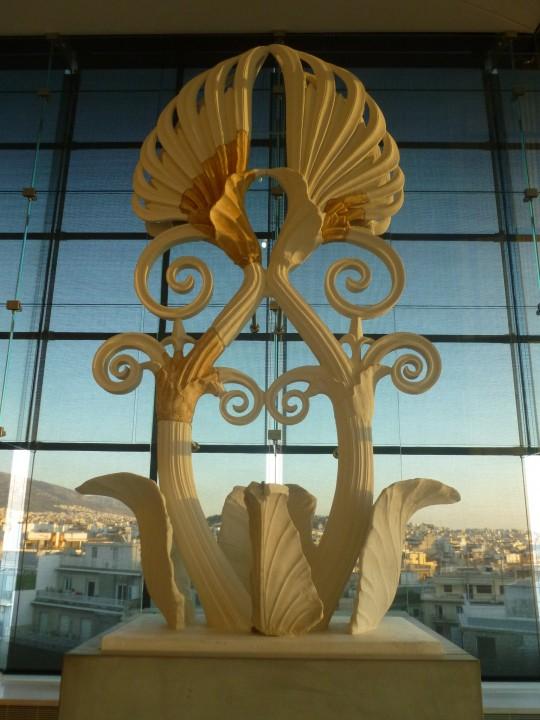 La flor de loto que coronaba el Partenón.