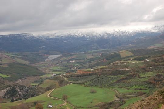 Primera visión del valle de Amari cretense.
