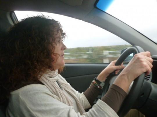 Pe, nuestra conductora.