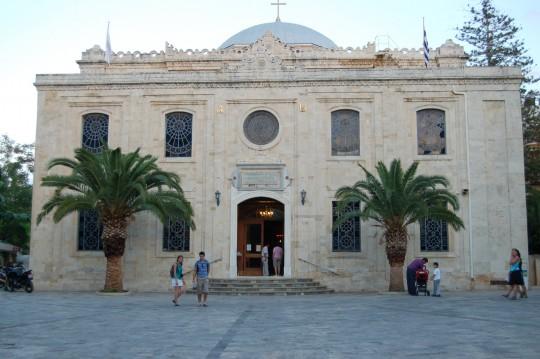 La iglesia de Agios Titos, antigua mezquita turca.