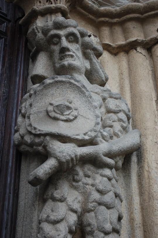 Detalle en la fachada de la Catedral.