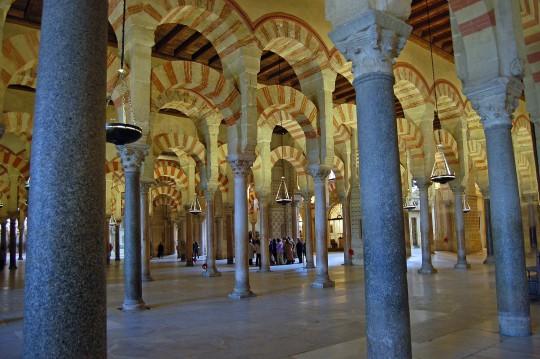 El bosque de columnas de la Mezquita.