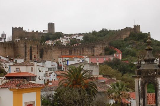 Vista de Óbidos desde el Hotel Real.
