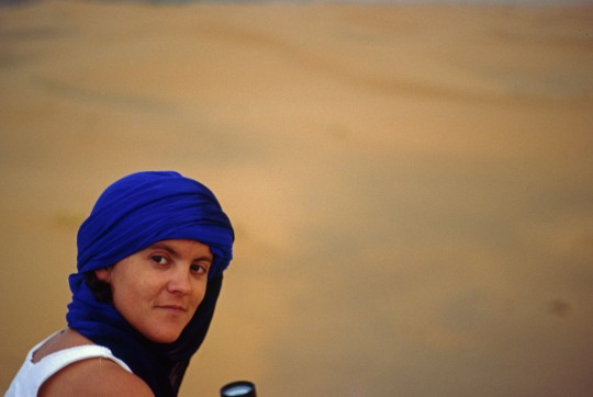 Penélope, en el Sáhara marroquí en 1988.