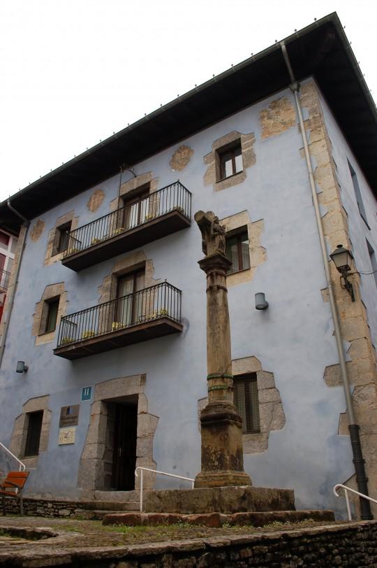 Una casa tradicional, convertida en hotel en el centro de Mundaka.