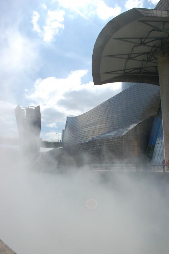 Una escultura de vapor de agua.