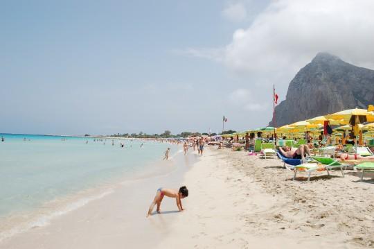 Vista general de la magnífica playa de San Vito lo Capo.