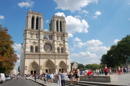 Notre Dame de París, 25 de julio de 2014 por la tarde.