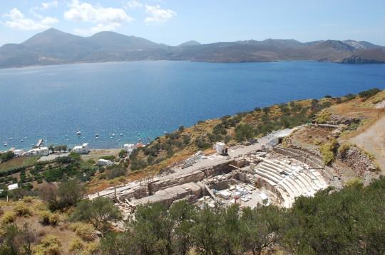 Un teatro griego bien situado.