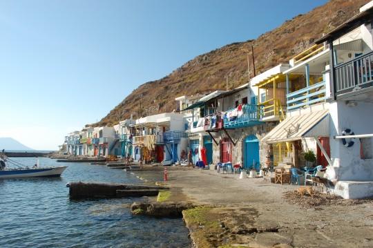 Vista general de Klima, en la isla de Milos.