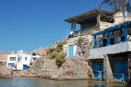 El mar calmado llega a las 'syrmata'.