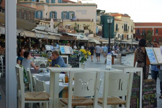 Y el atardecer en el puerto veneciano de La Canea.