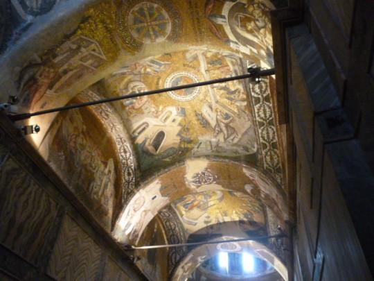 Las cúpulas y bóvedas de San Salvador, llenas de mosaicos.