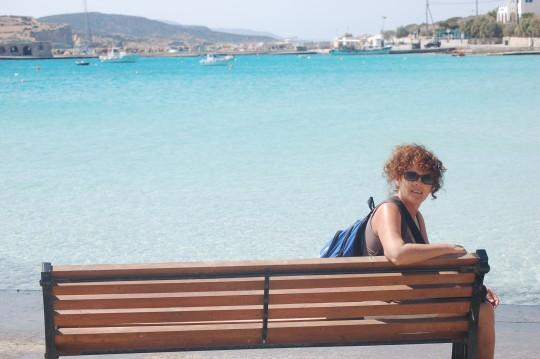 Penélope ante el mar de Koufonisia.